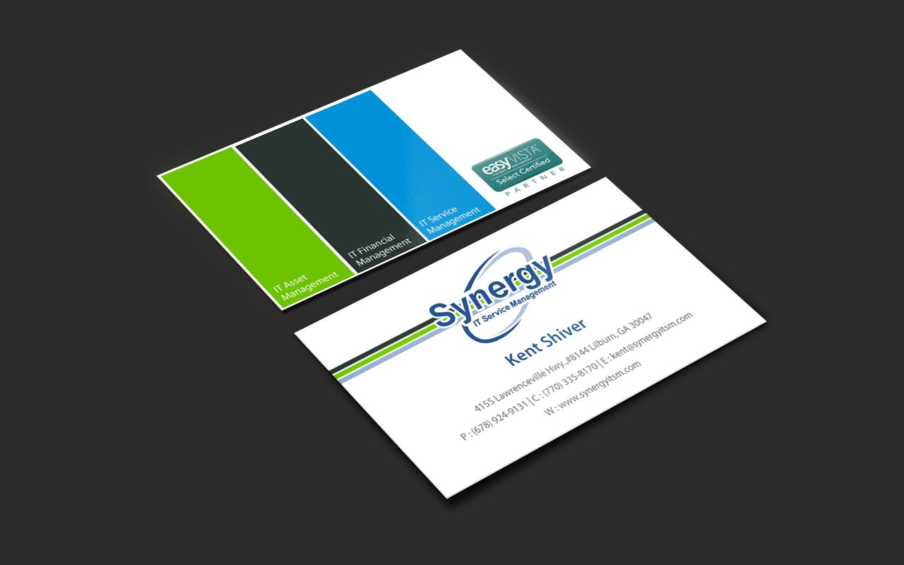 Professional serious software business card design for synergy business card design by pixelfountain for synergy itsm inc design 5989184 reheart Gallery