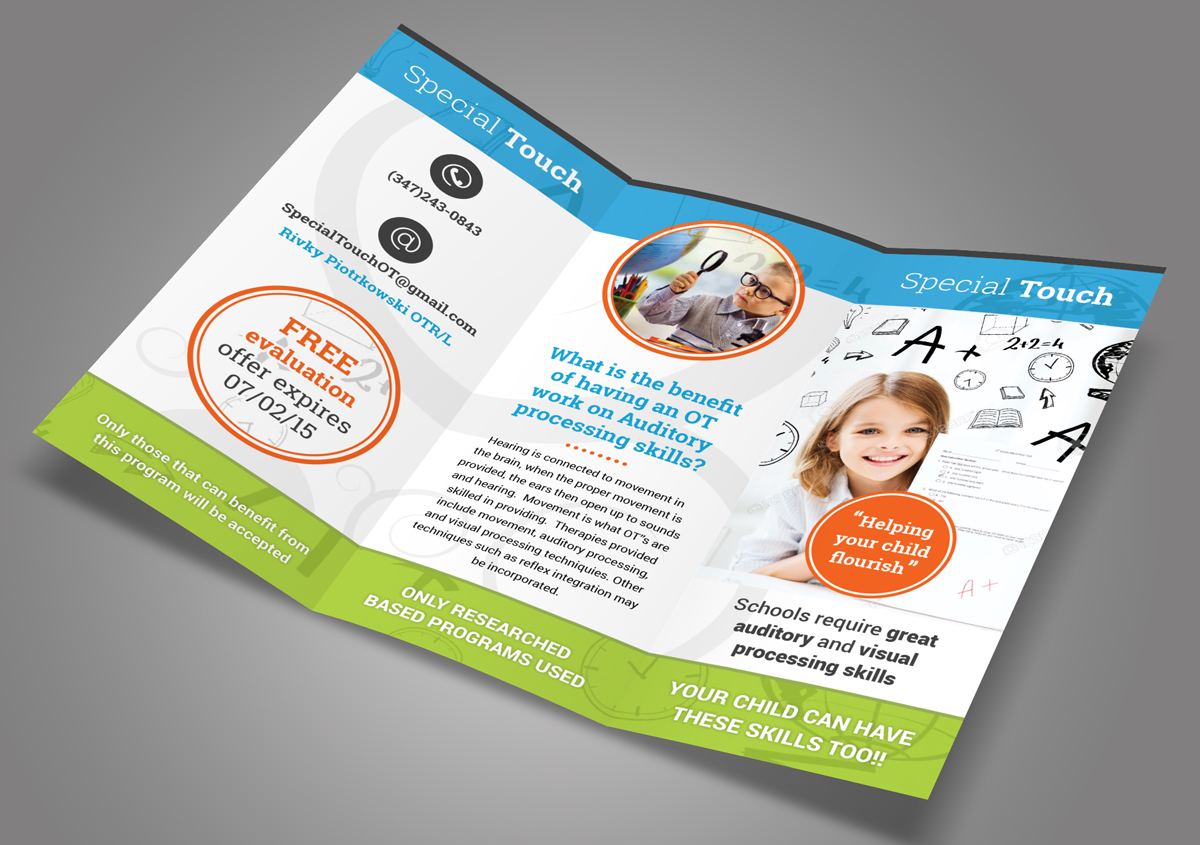 brochure design by oilegak for special touch by sr inc design 6027996