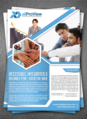 Flyer Design by hih7 - Project & Resource Management software product  ...