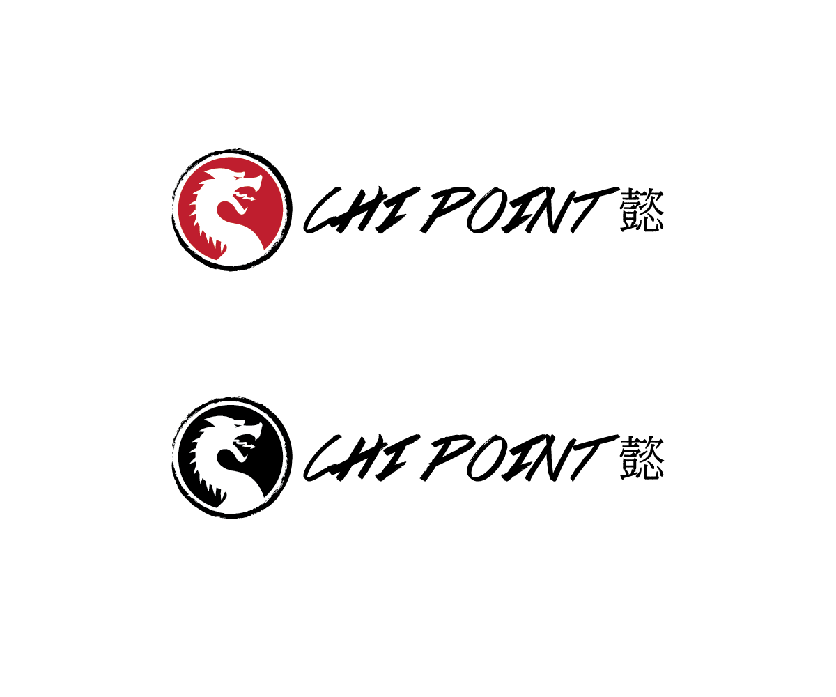 Modern Serious Health Logo Design For Chi Point And The Chinese