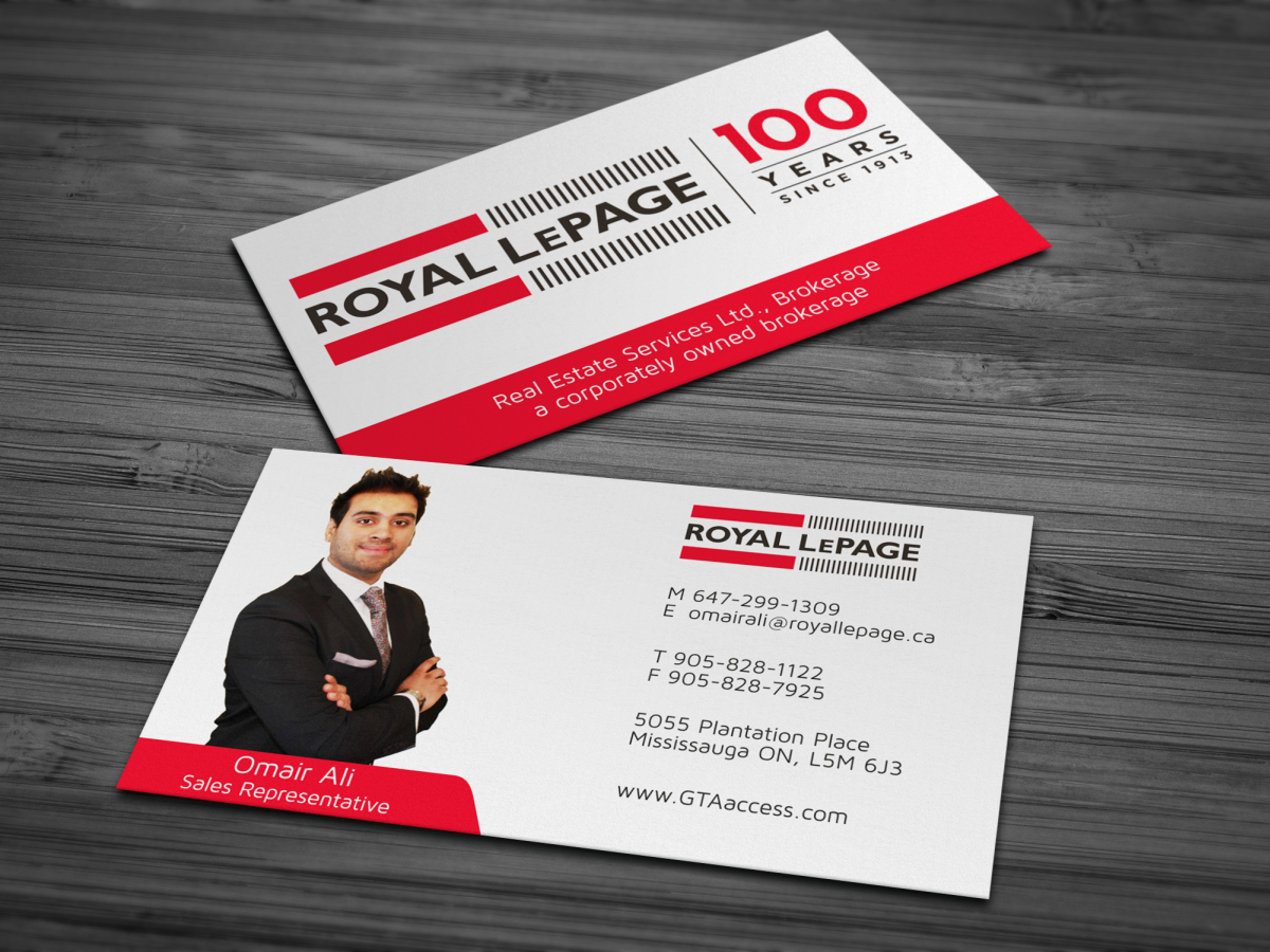 modern upmarket real estate business card design for a company by