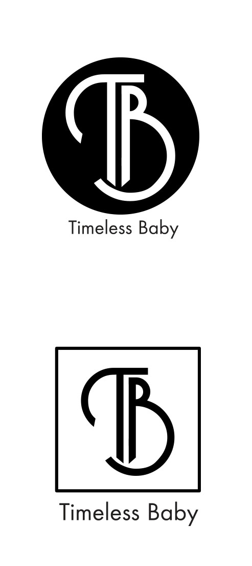 Serious Modern Boutique Logo Design For Timeless Baby By Nemov