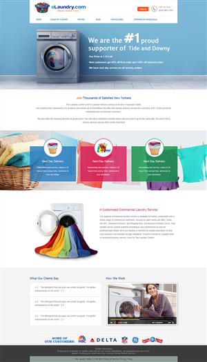 72 Modern Colorful Dry Cleaning Web Designs for a Dry Cleaning ...