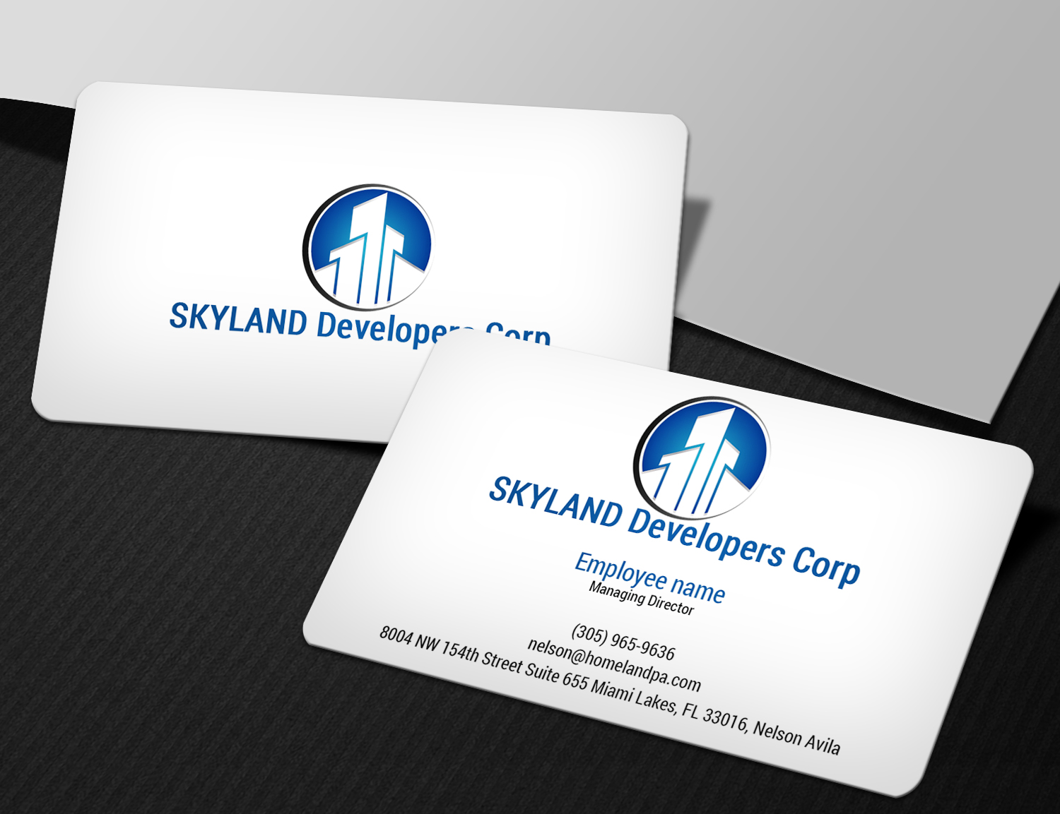 Modern, Masculine, Contractor Business Card Design for a Company by ...