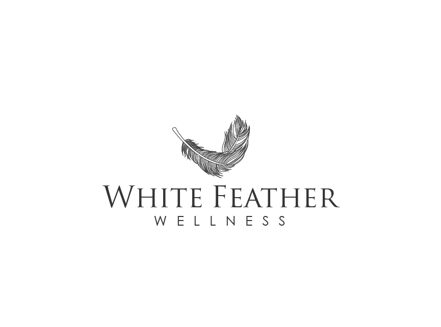Feather Logo for a Health and Wellness Business by J. Brandt Studio