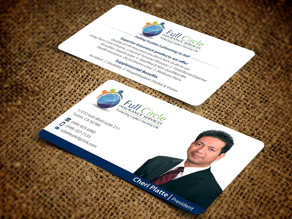 29 serious business card designs insurance business card design business card design by pixelfountain for circle of care design 6208860 colourmoves