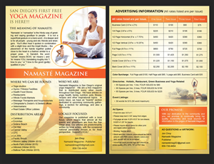 Flyer Design by uniquedesign10 - Yoga Magazine needs 6x9 advertising flyer / pos ...
