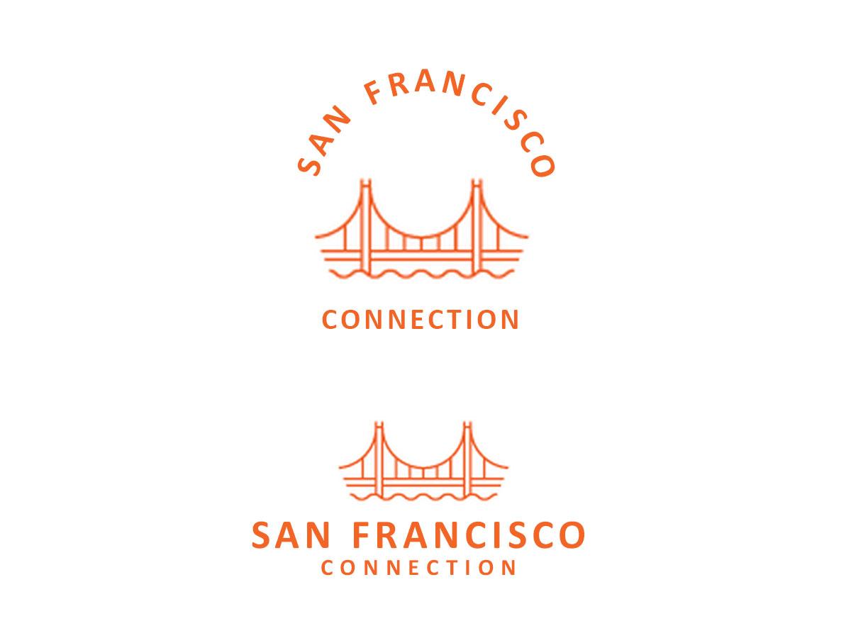 Moderno atrevido logo design for san francisco connection for Design companies in san francisco