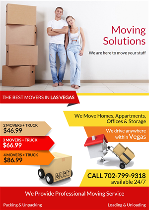 Flyer Design by Mediainfy - Amazing Looking Flyer for Moving Services