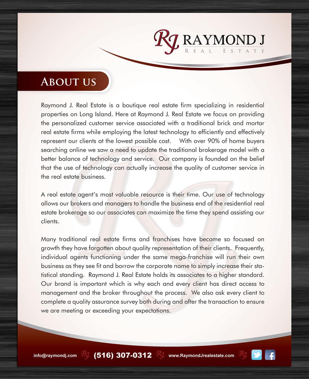 Upmarket Property Development Brochures : Serious upmarket real estate brochure design for raymond