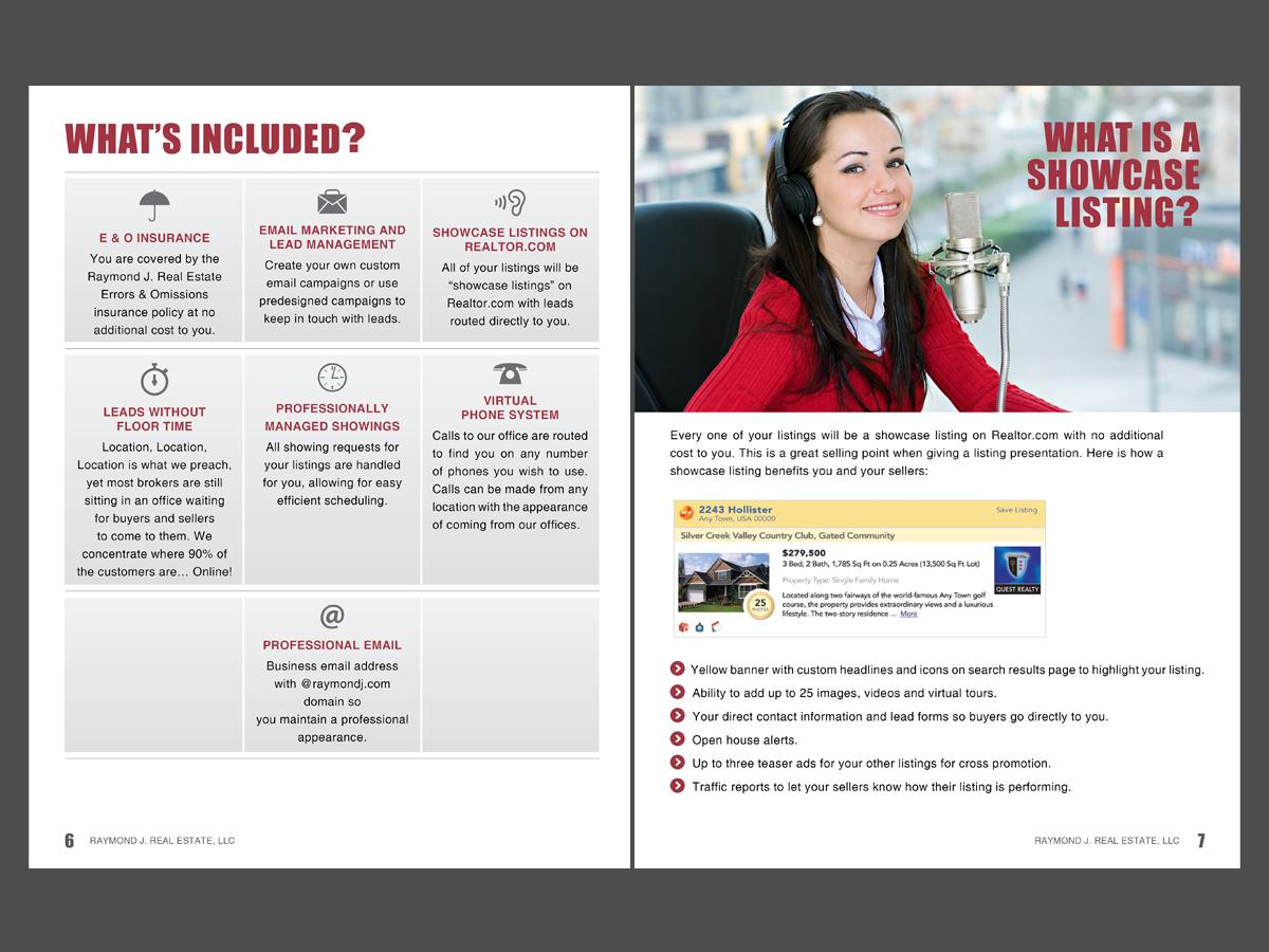 brochure design by chawije for raymond j real estate llc design 1841120