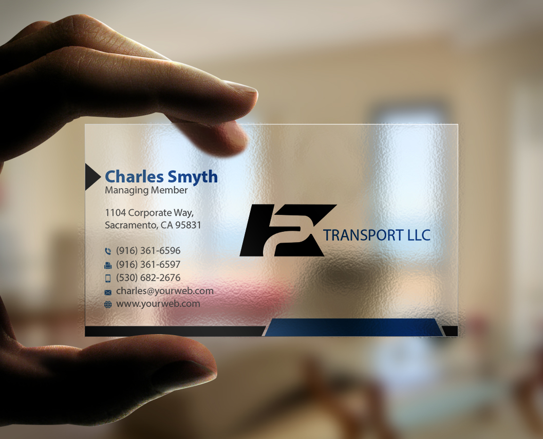 business card design by mediaproductionart for this project design 6051053 - Trucking Business Cards
