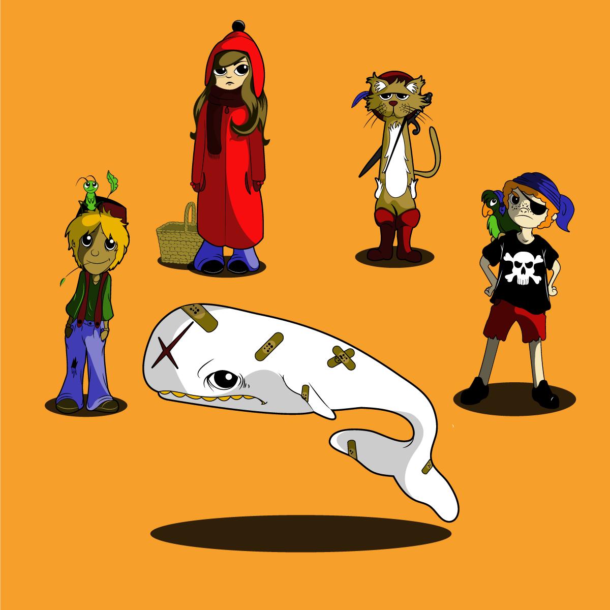 Character Designer Pay : Elegant playful restaurant character designs for a