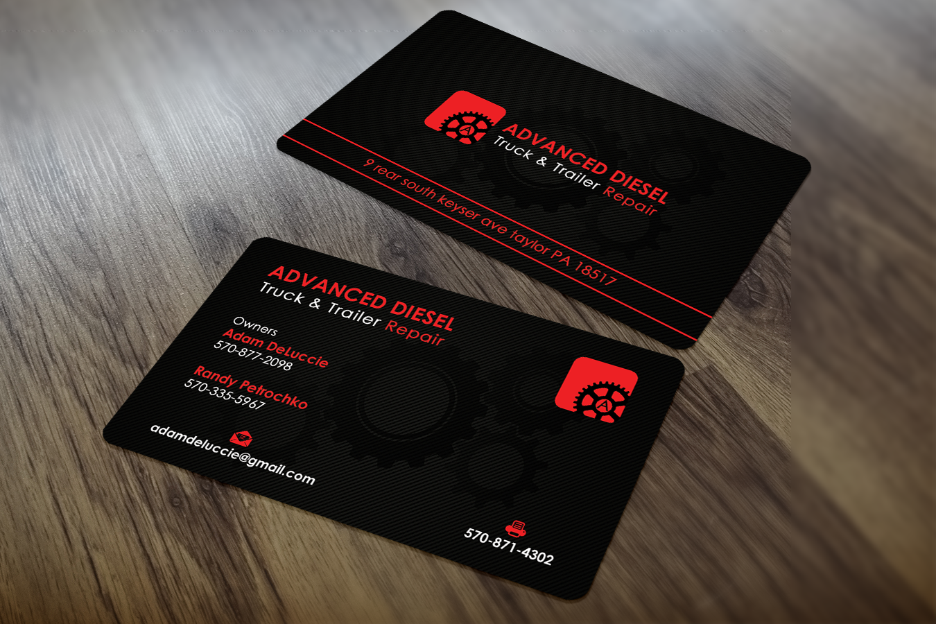 Masculine, Modern Business Card Design for adam deluccie by Sajin ...