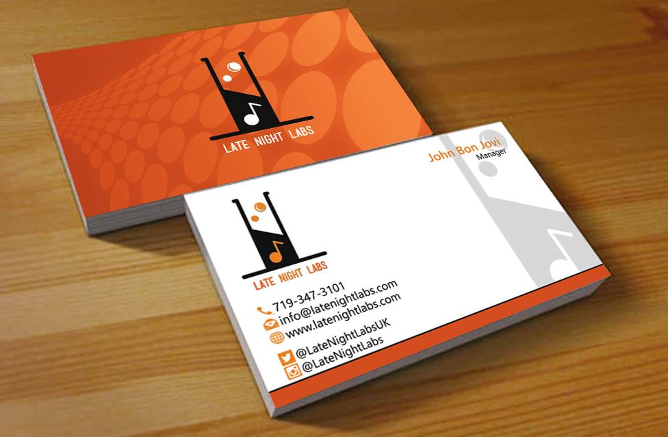 Modern upmarket business business card design for lunakidz music business card design by hardcore design for lunakidz music design 6050432 colourmoves