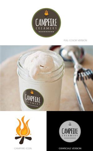 Logo Design for Artisan Ice Cream & Sweets Small Business Logo by Studio 17