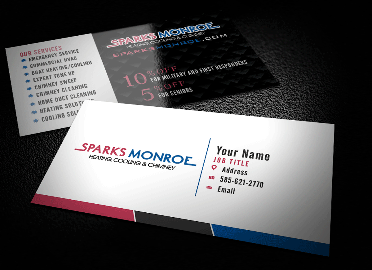 73 Bold Business Card Designs | Air Conditioning Business Card ...