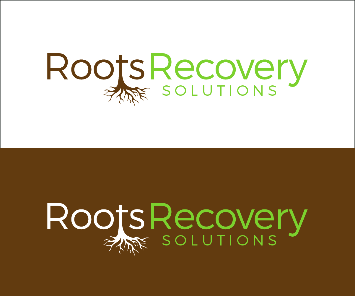 bold playful it company logo design for roots recovery solutions