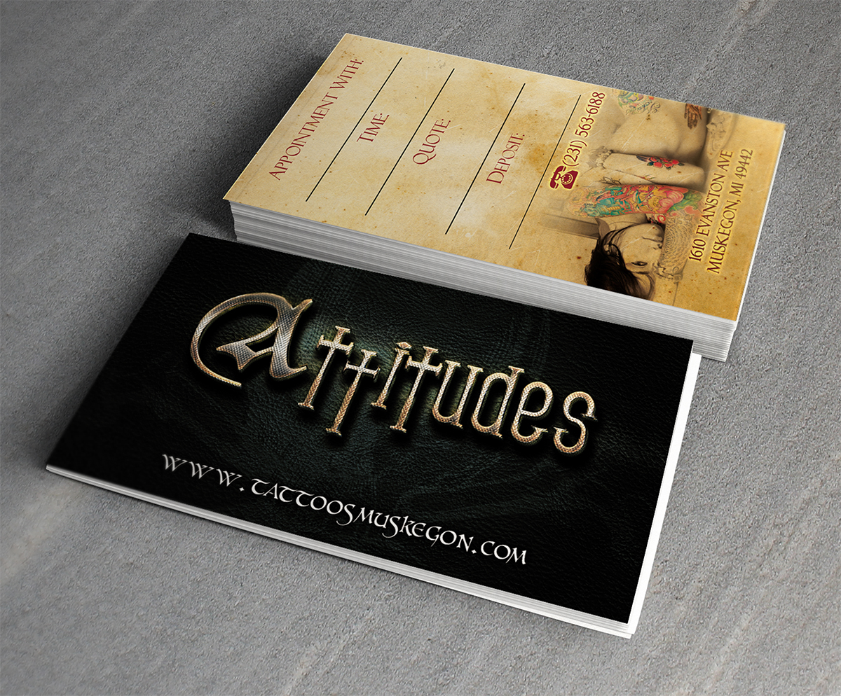 Playful Modern Business Business Card Design For Attitudes By