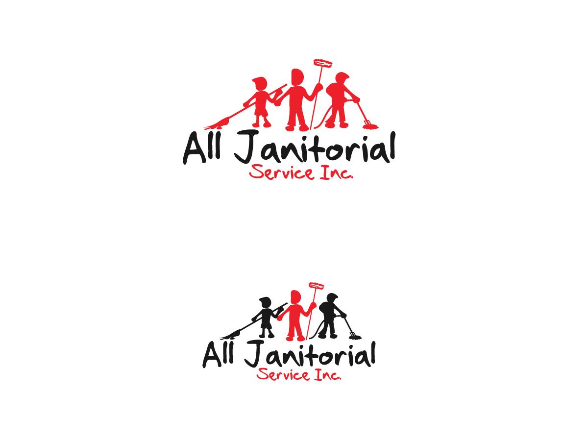 Logo Design By Kimdesigner Brilliant Webdesign For All Janitorial Service Inc