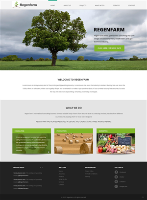 Web Design by pb - RegenFarm Agribusiness Consulting needs a Websi ...