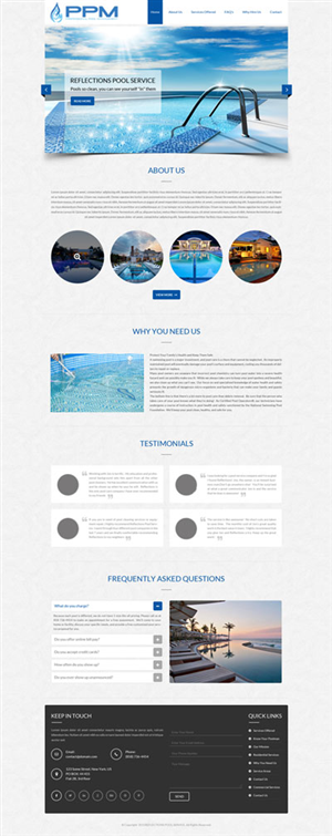 Web Design by saroshdurrani - !!  Las Vegas  !! Pool Company Needs a Great We ...
