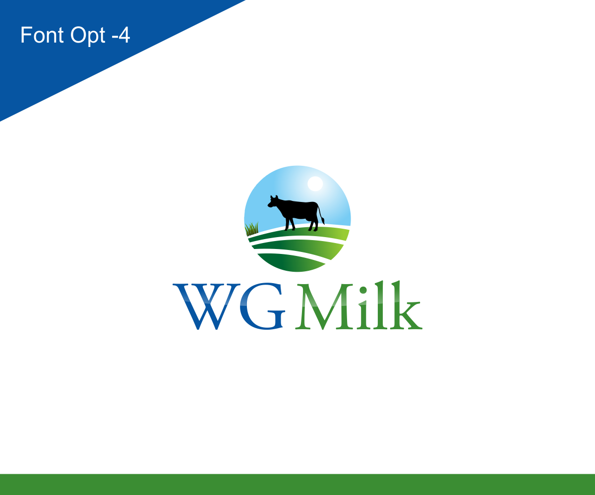 Modern, Personable, Farm Logo Design For WG Milk By Sarah