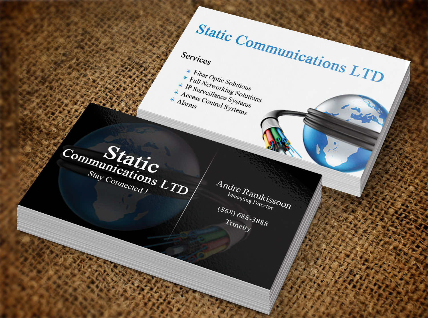 Elegant, Playful, Communications Business Card Design for a Company ...