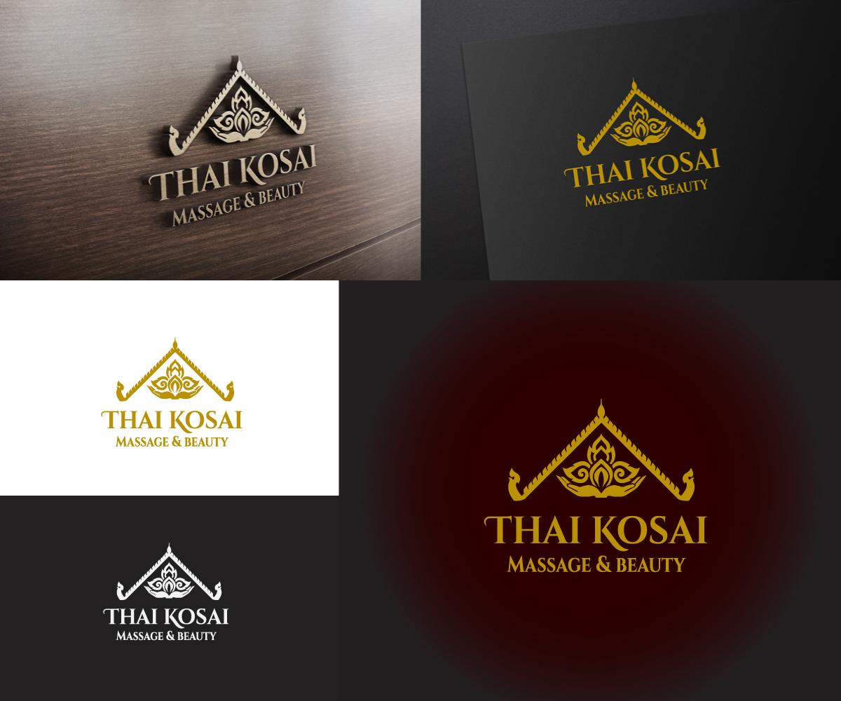 Beauty Salon Logo Design for Thai Kosai - Massage & beauty by Ena