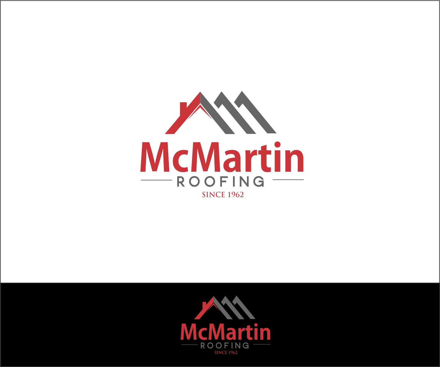 roofing logo design for mcmartin roofing since 1962 by a n roofing company logos in north dfw roofing company logo images