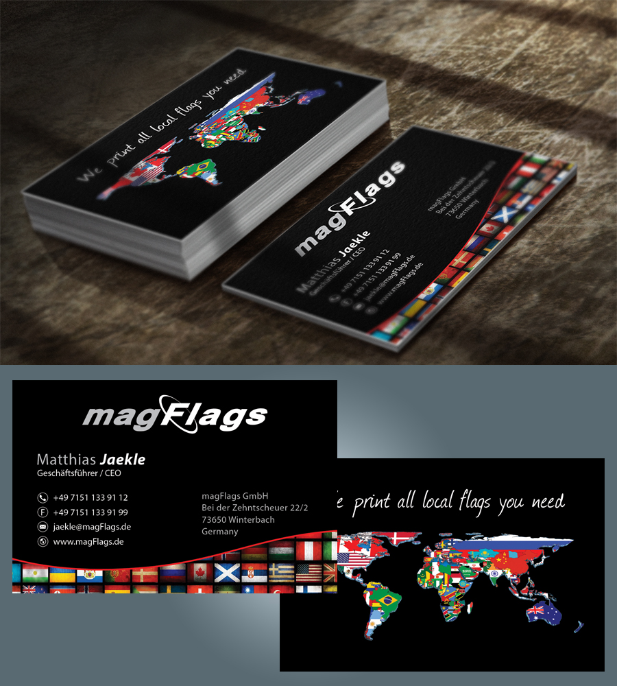 Upmarket professional business business card design for magflags business card design by vanillasky for magflags gmbh design 6266948 reheart Gallery