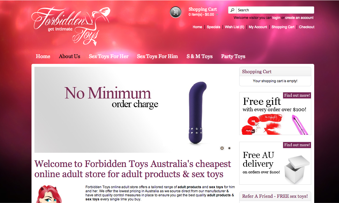 Sex Toy Online Stores