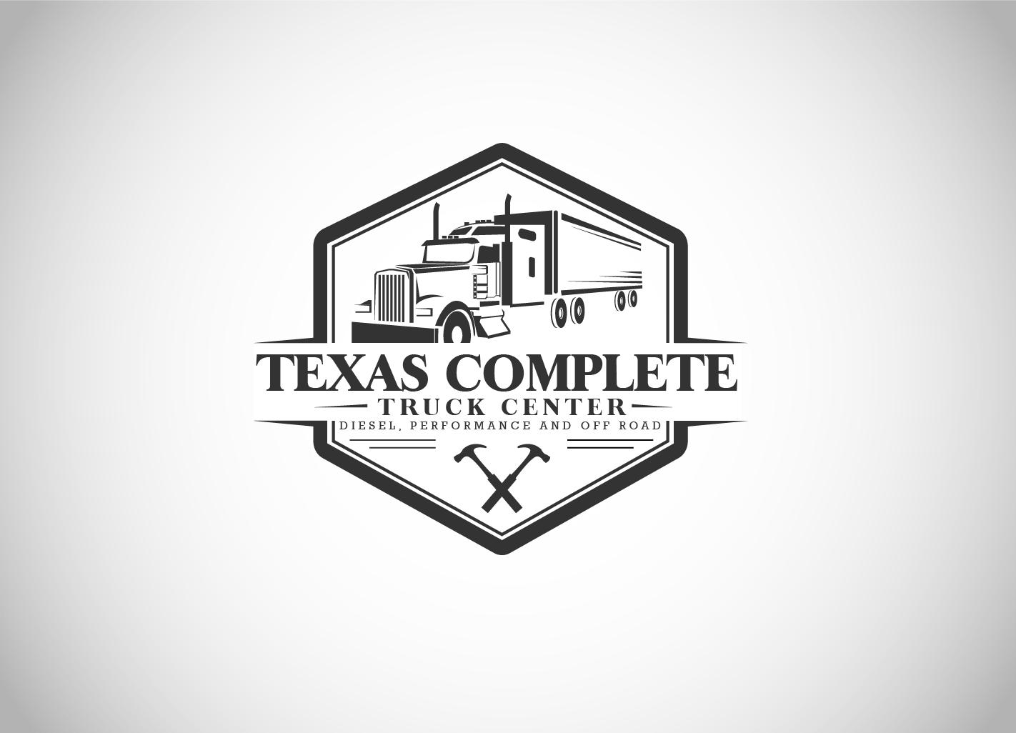 elegant playful shop logo design for texas complete truck center