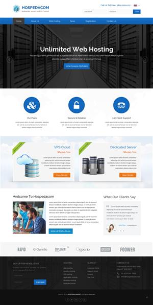 Web Design by pb - CREATE A 2 layout and logo ( hospedacom )