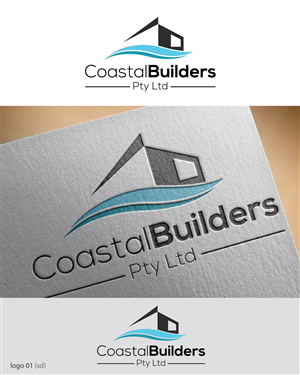 logo design design 6093357 submitted to coastal builders new logo design closed - Home Builder Design