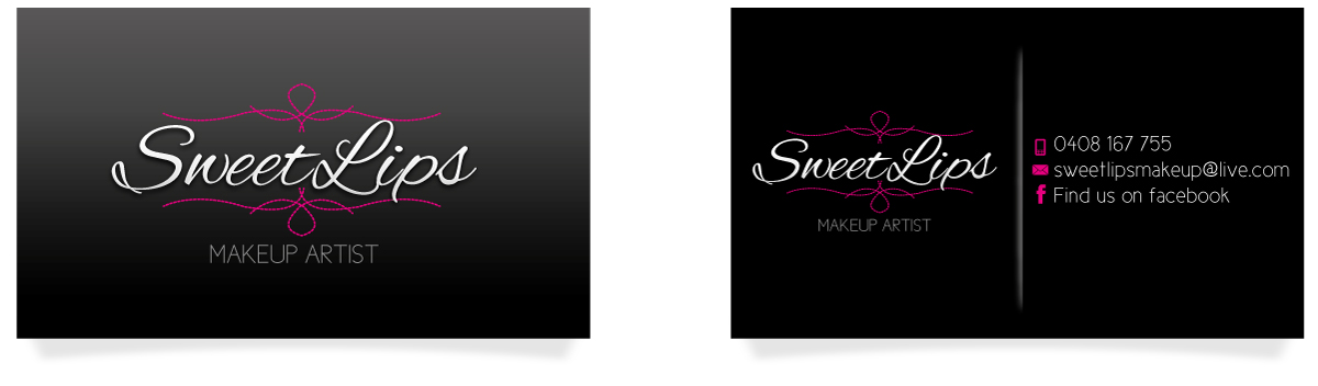 Elegant feminine business business card design for sweetlips business card design by jcr for sweetlips makeup artistry design 1663026 reheart Images