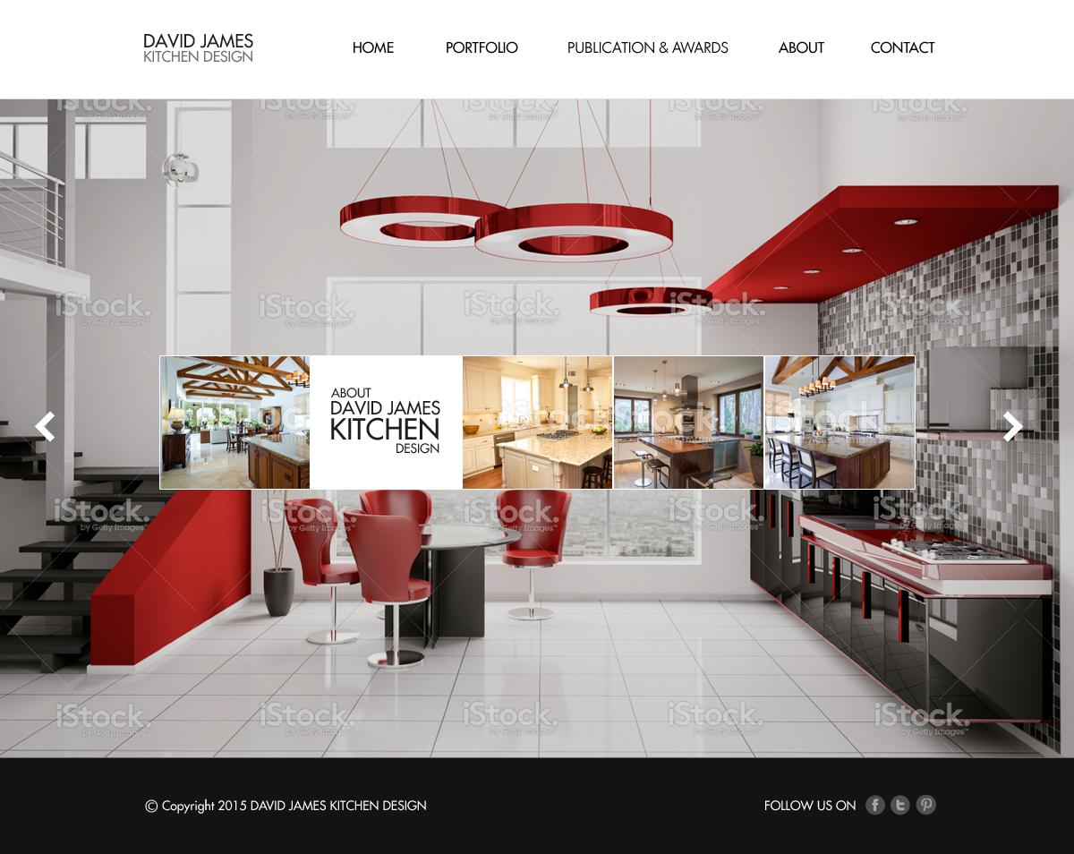 Elegant, Playful, Kitchen Web Design for a Company by ABG | Design ...
