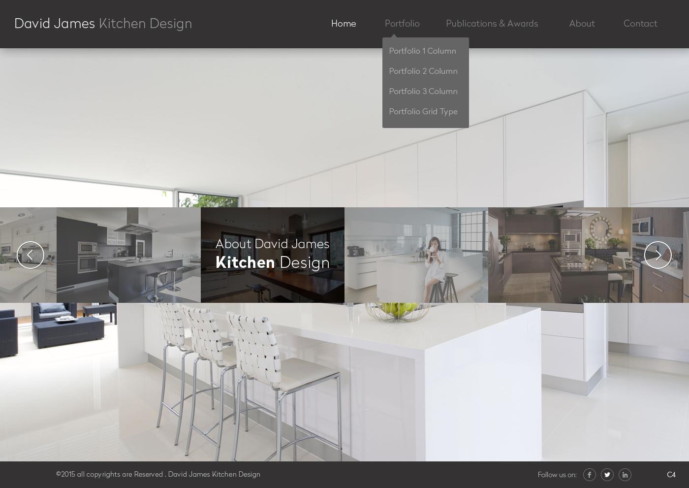 Elegant, Playful, Kitchen Web Design for a Company by pb | Design ...