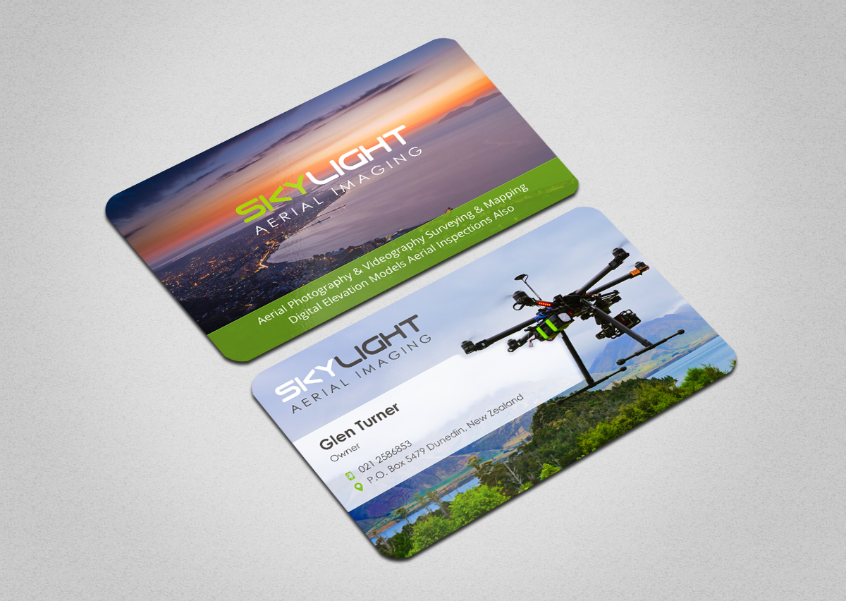 Modern professional business card design for glen turner by business card design by indianashok for skylight is a new zealand based aerial imaging company performing reheart Gallery