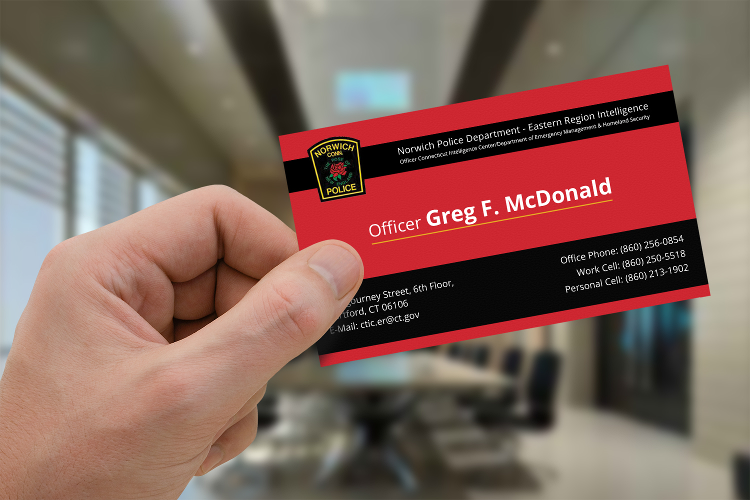 Business Card Design For Greg Mcdonald By Andym 6121792