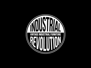 "Logo Design job – "" INDUSTRIAL REVOLUTION""  Vintage Industrial Furniture – Winning design by Hoopoe"