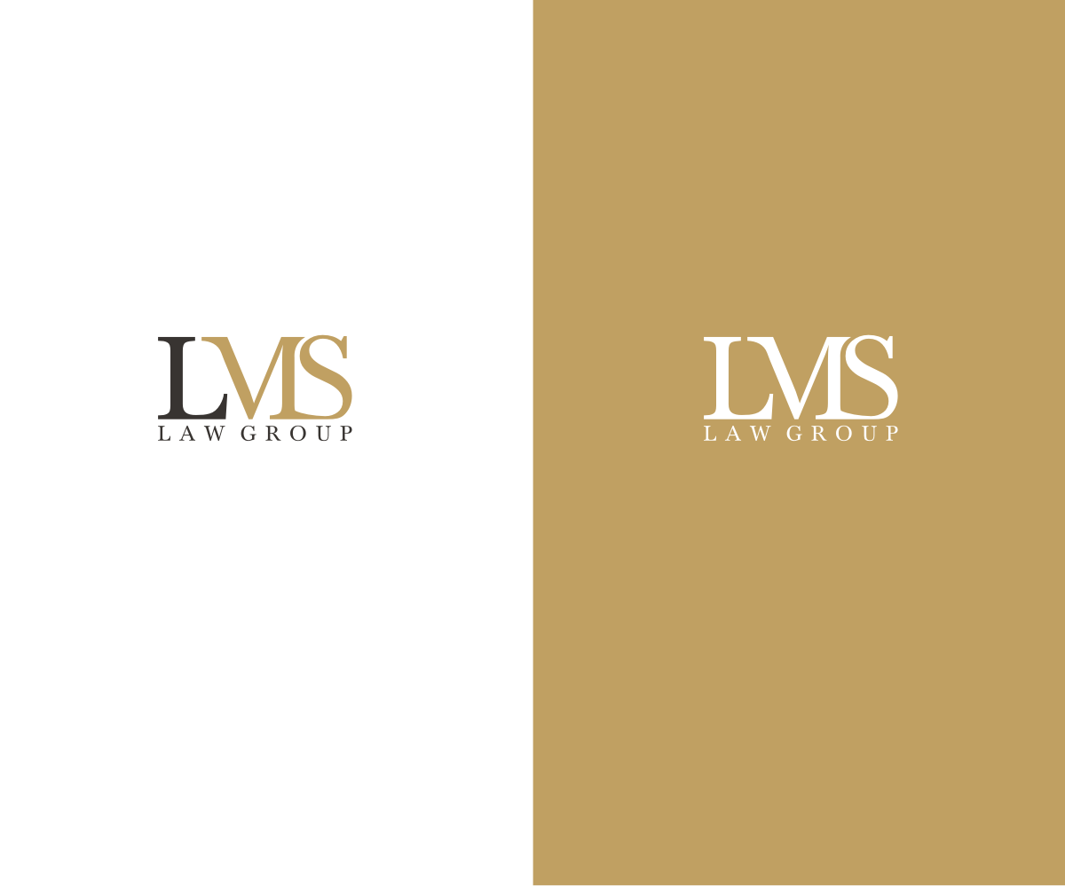Professional serious law firm logo design for lms law for Design firm