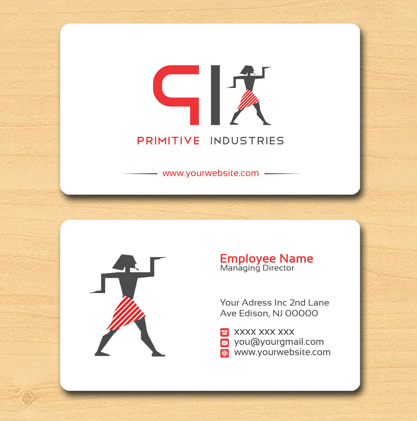 Bold serious business business card design for primitive bold serious business business card design for primitive industries in united states design 6113002 colourmoves