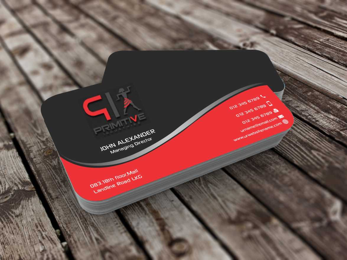 Bold serious business business card design for primitive bold serious business business card design for primitive industries in united states design 6128384 colourmoves