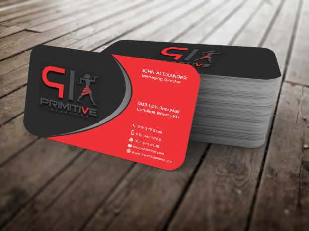 Bold serious business business card design for primitive bold serious business business card design for primitive industries in united states design 6128393 colourmoves