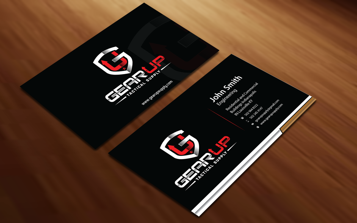 Bold masculine business business card design for gear up tactical bold masculine business business card design for gear up tactical supply in united states design 6130958 reheart Choice Image