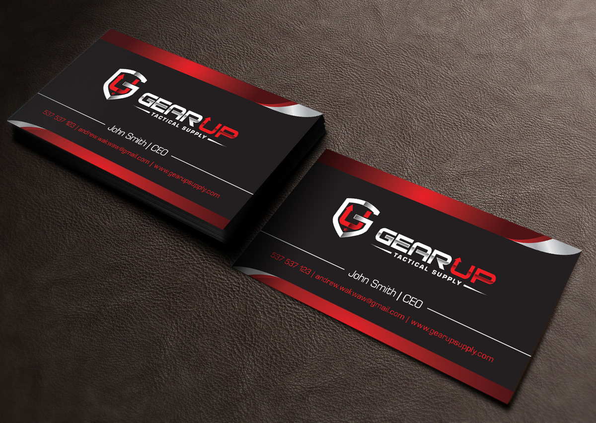 Bold, Masculine, Business Business Card Design for Gear Up Tactical ...