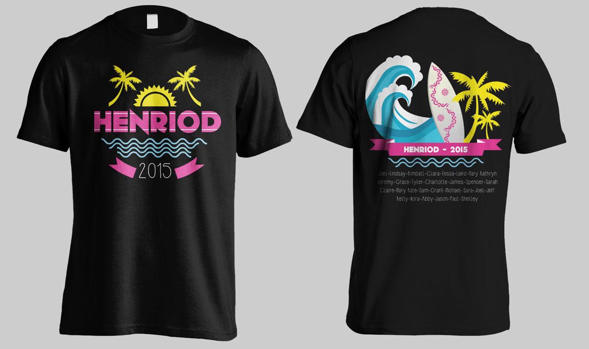 Colorful bold t shirt design for joel henriod by ordelya for Travel t shirt design ideas
