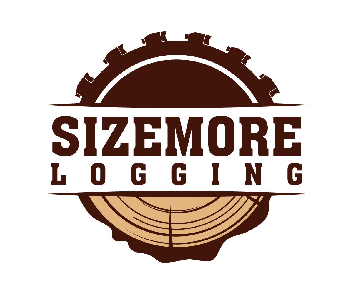 Masculine bold business logo design for sizemore logging for Design company