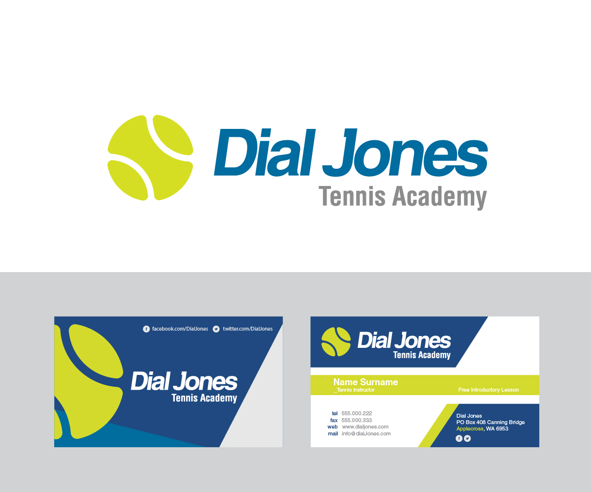 Elegant playful business logo design for dial jones tennis school elegant playful business logo design for a company in united states design 6297551 reheart Choice Image